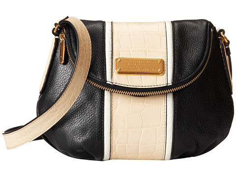 Marc by Marc Jacobs - New Q Croc Striped Mini Natasha (Black Multi) Cross Body Handbags