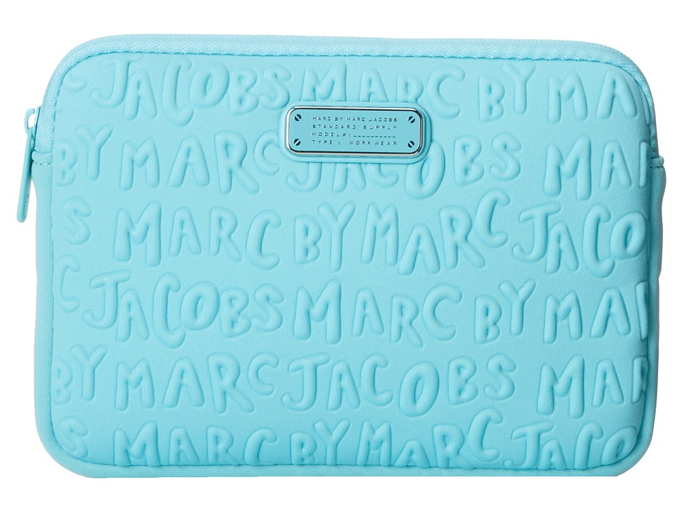 Marc by Marc Jacobs - Adults Suck Neoprene Mini Tablet Case (Sea Aqua) Computer Bags