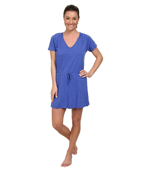 Speedo - Slub Jersey Hooded Cover-Up (Deep Peri) Women