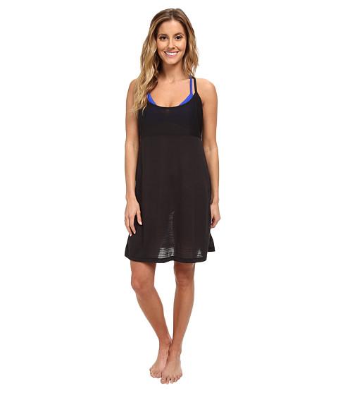 Speedo - Burnout Cover-Up Dress (Black) Women's Swimwear