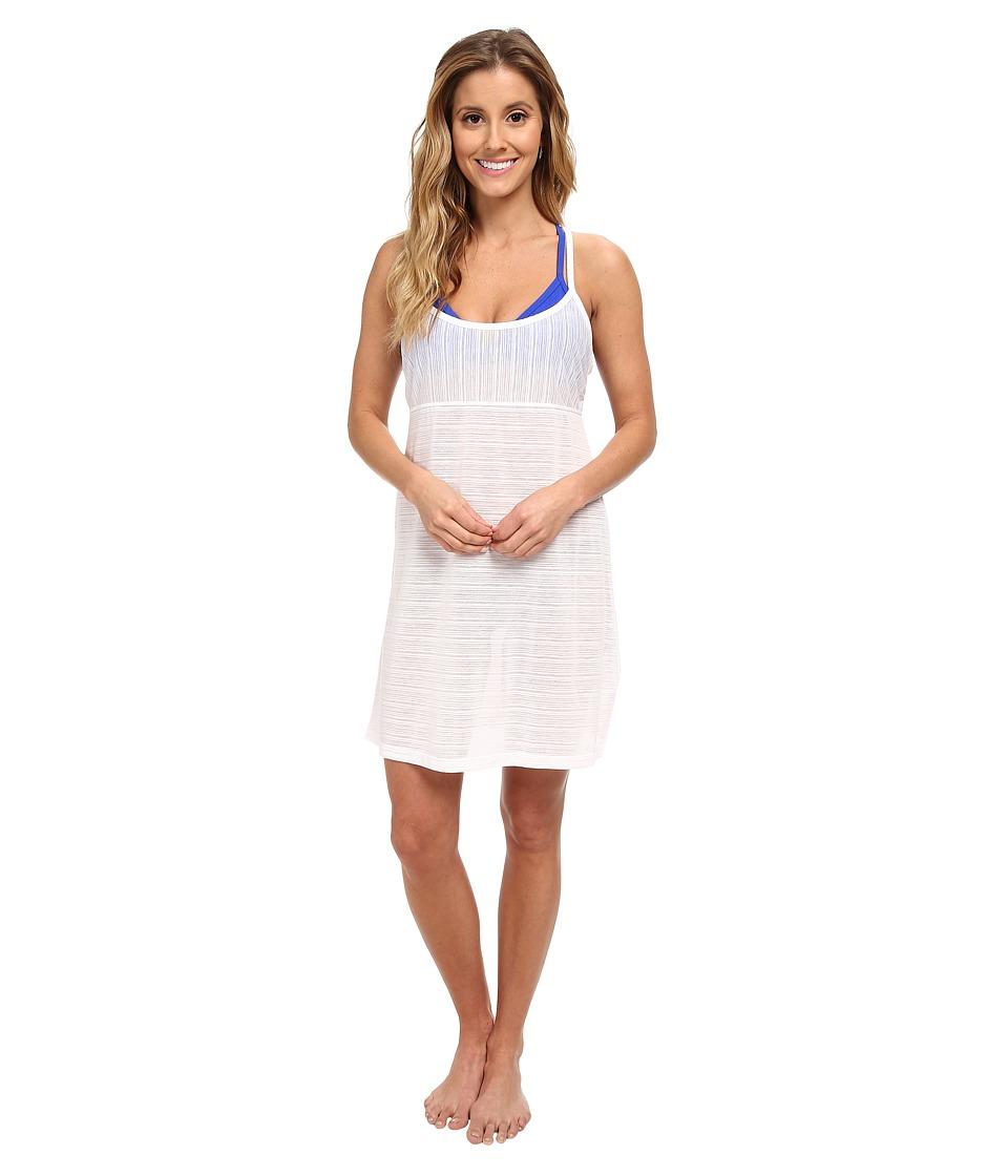 Speedo - Burnout Cover-Up Dress (White) Women's Swimwear