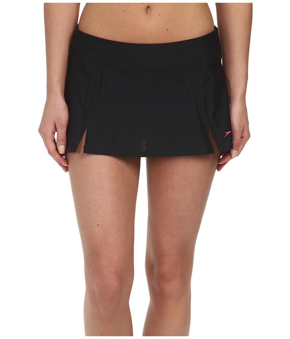 Speedo - Skirtini Bottom (Black) Women's Swimwear plus size,  plus size fashion plus size appare