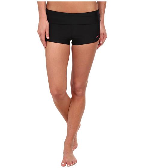 Speedo - Foldover Cover-Up Short (Black) Women's Swimwear