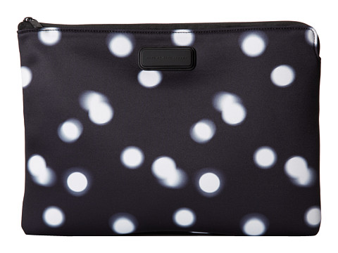 Marc by Marc Jacobs - Blurred Dot Neoprene 13 Zip Cutout Case (Black Multi) Computer Bags