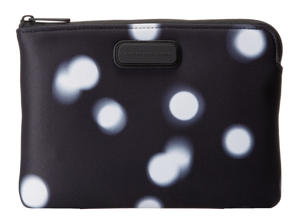 Marc by Marc Jacobs - Blurred Dot Neoprene Mini Tablet Zip Cutout Case (Black Multi) Computer Bags
