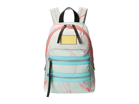 Marc by Marc Jacobs - Domo Arigato Milk Marble Mini Packrat (Light Mint Multi) Backpack Bags