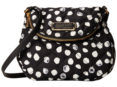 Marc by Marc Jacobs - Crosby Quilt Nylon Deelite Dot Mini Natasha (Black Multi) Cross Body Handbags