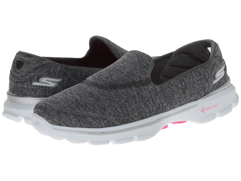 SKECHERS Performance - Go Walk 3 Reboot (Gray) Women's Slip on Shoes