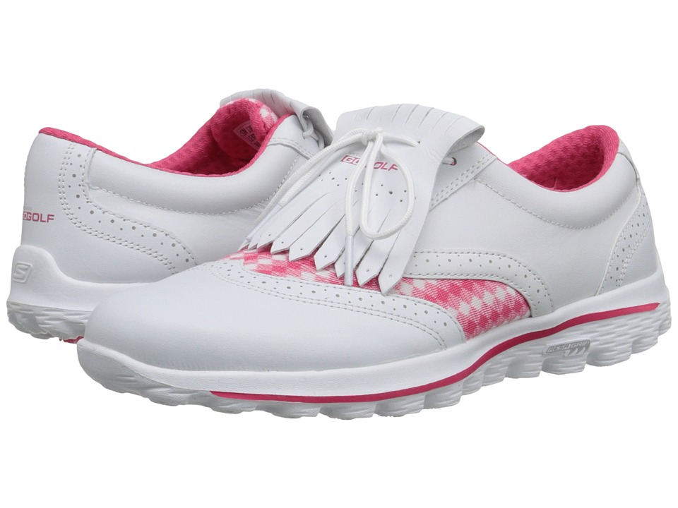 SKECHERS Performance - Go Golf Kiltie (White/Pink) Women's Shoes
