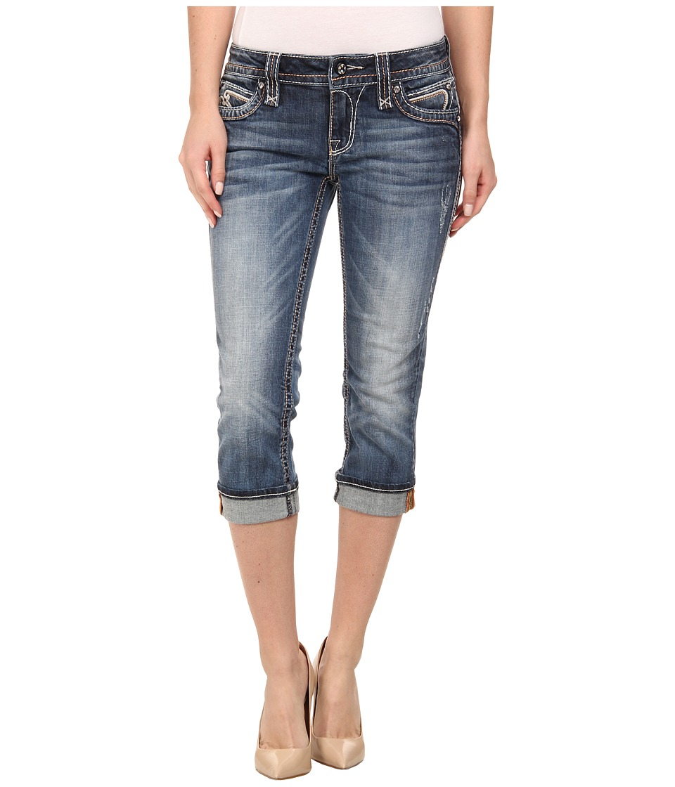 Rock Revival - Pilkin P3 Capri in Medium Indigo (Medium Indigo) Women's Capri