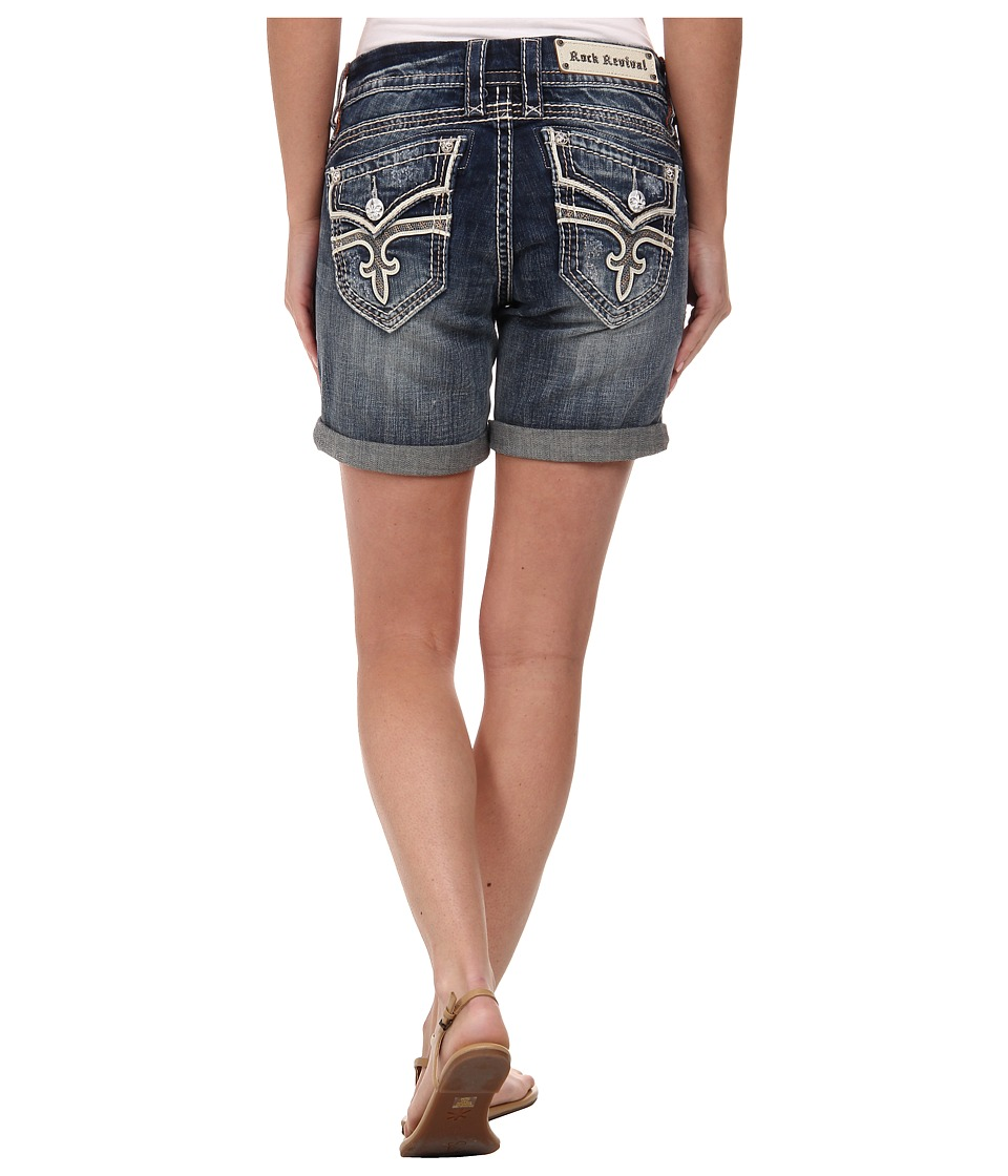 Rock Revival - Luz Rh12 Easy Short in Dark Indigo (Dark Indigo) Women's Shorts