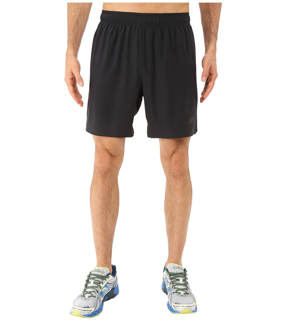 New Balance - 7 Stretch Woven Short (Black) Men's Shorts