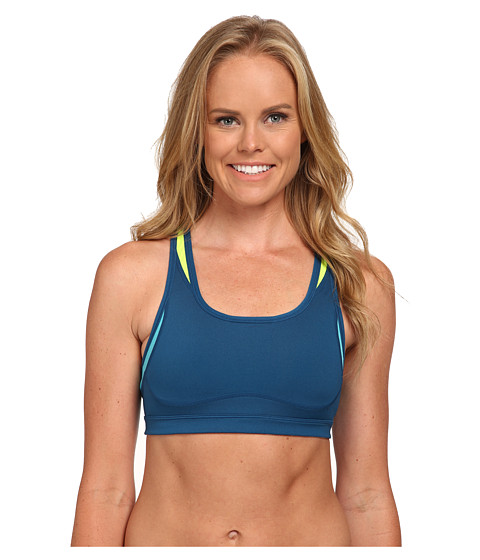 New Balance - The Shapely Shaper Fitted Bra (Deep Water/Sea Glass) Women