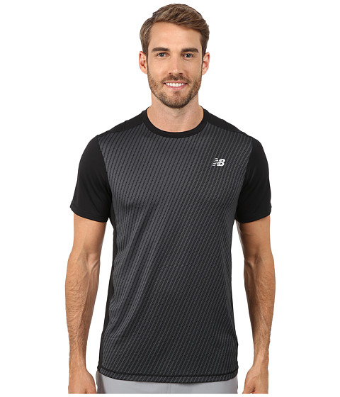 New Balance - NB Ice Short Sleeve (Black) Men's T Shirt