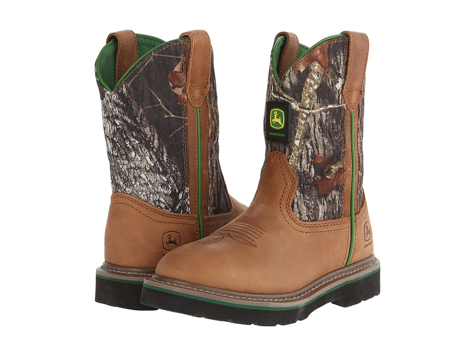 John Deere Kids - Classic Pull-On (Big Kid) (Tan/Mossy Oak(r)) Cowboy Boots