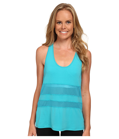 New Balance - Mesh Panel Tank Top (Sea Glass) Women's Sleeveless