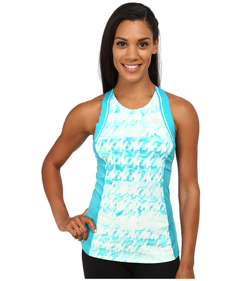 New Balance - Tournament Racerback Top (Sea Glass/White) Women's Sleeveless