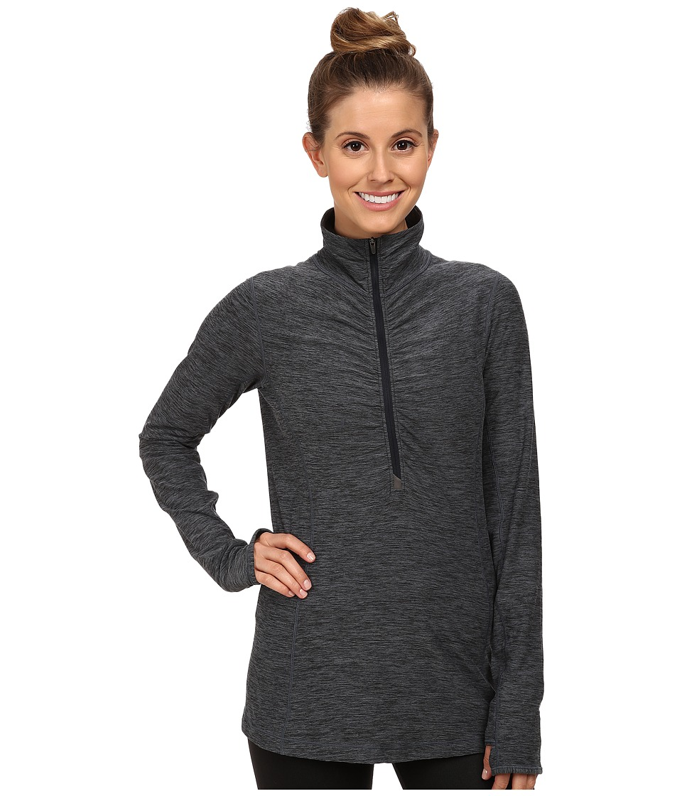 New Balance - In Transit Half Zip Jacket (Black Heather) Women's Long Sleeve Pullover