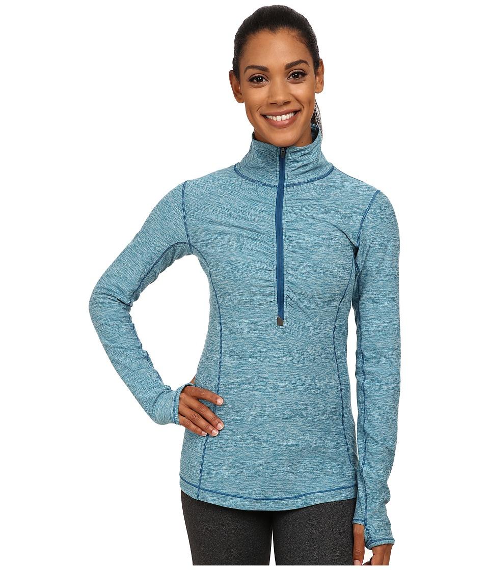 New Balance - In Transit Half Zip Jacket (Deep Water Heather) Women