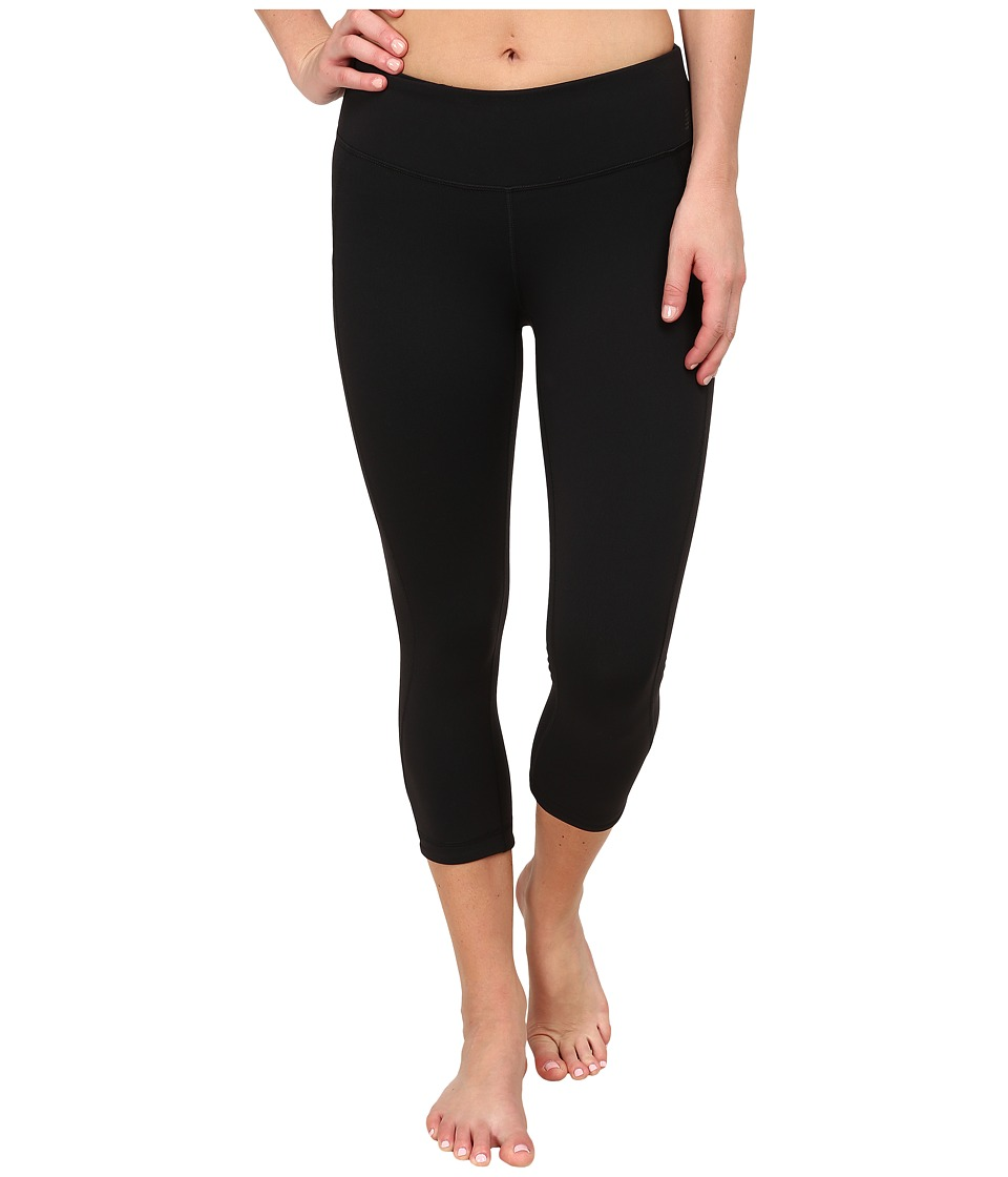 New Balance - Premium Performance Fitted Capri (Black) Women's Capri