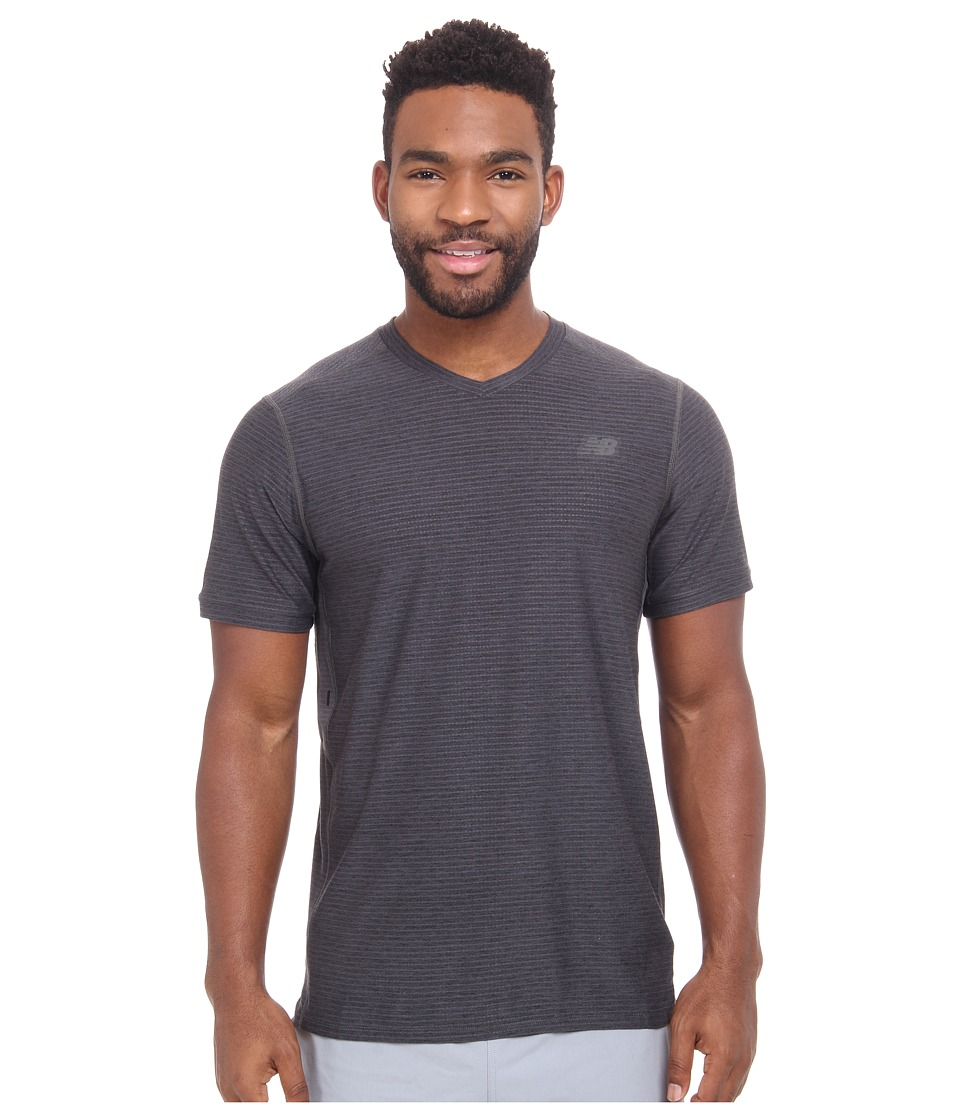 New Balance - Shift Short Sleeve (Heather Charcoal) Men's T Shirt