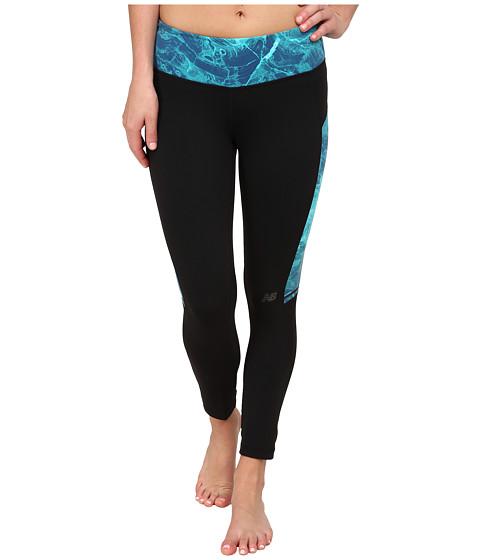 New Balance - Premium Performance Fashion Crop Bottom (Black/Sea Glass) Women