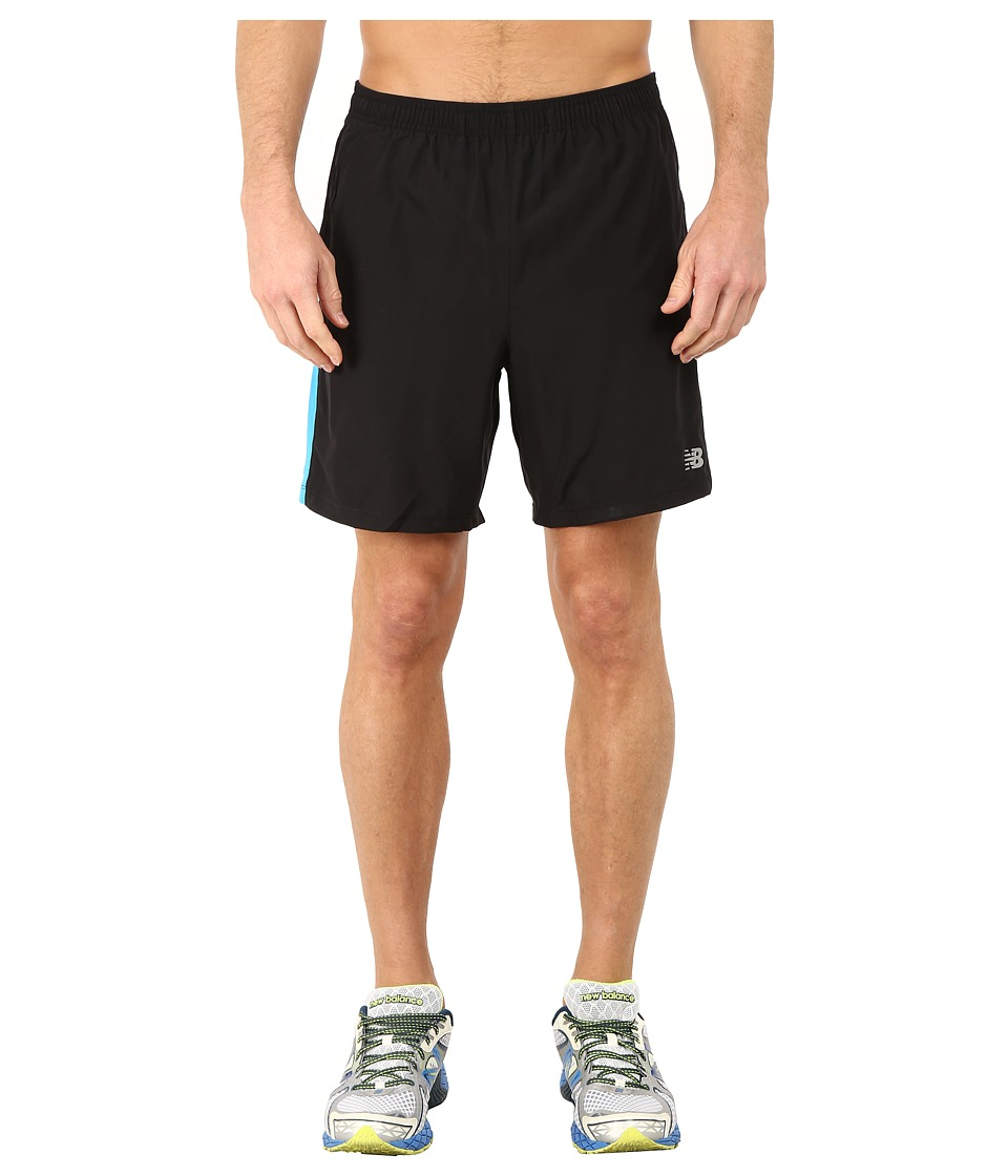 New Balance - Accelerate 7 Short (Black/Bolt) Men's Shorts