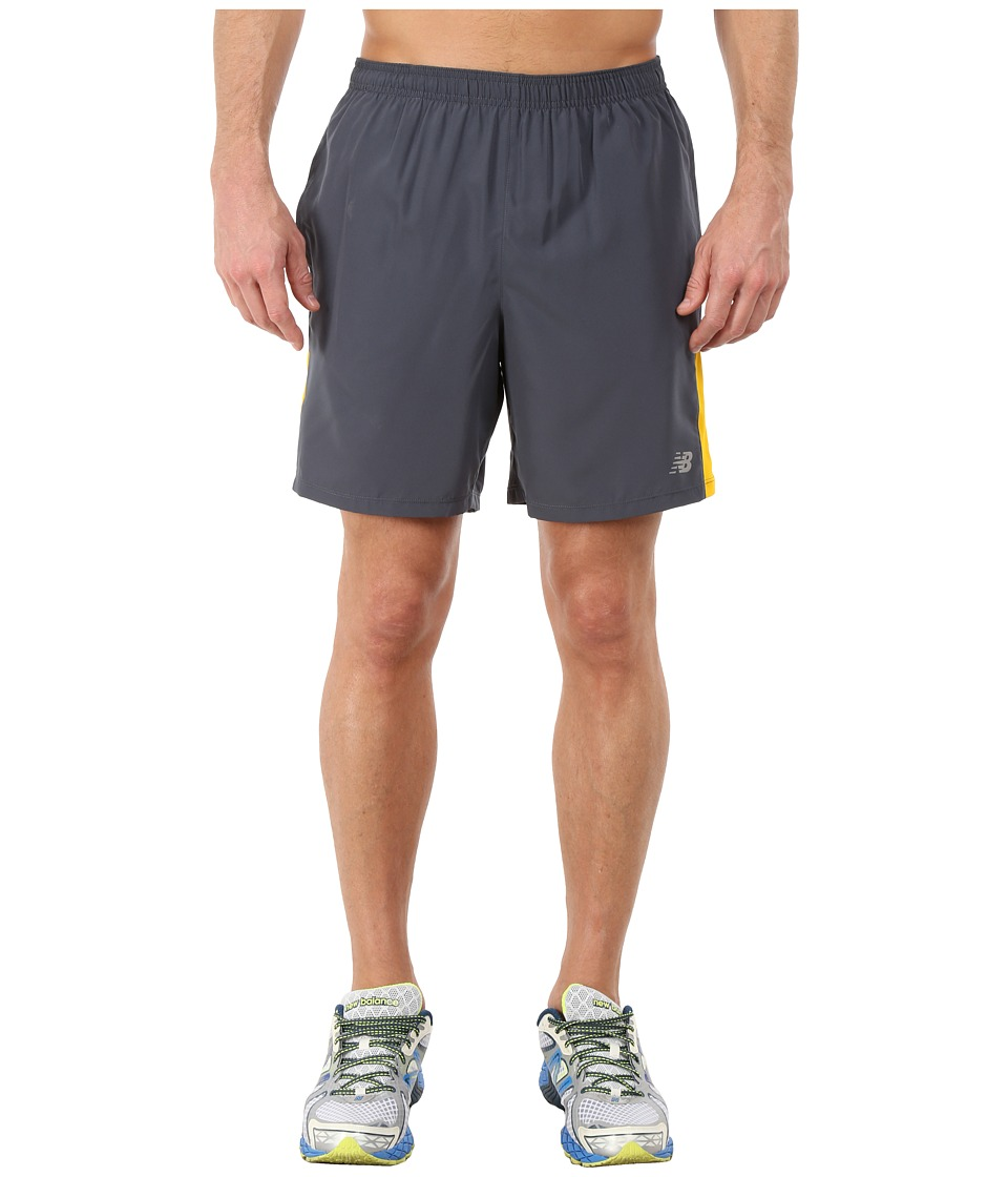 New Balance - Accelerate 7 Short (Thunder/Gold Rush) Men's Shorts