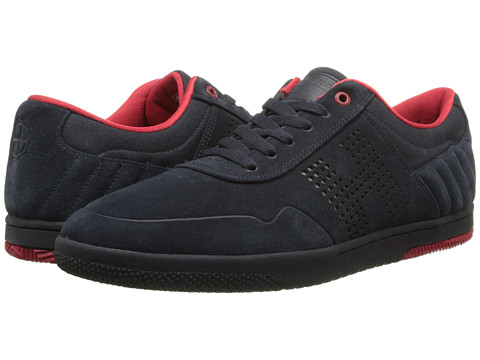 HUF - Hufnagel 2 (Dark Navy/Tango Red) Men's Skate Shoes