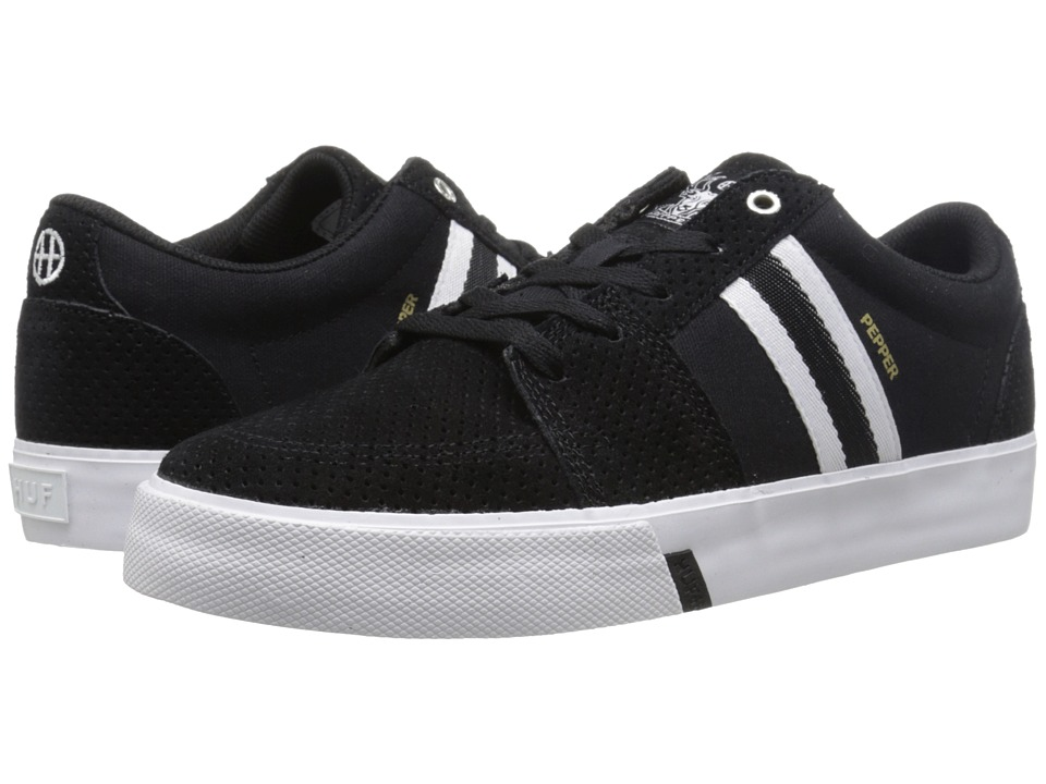 HUF - Pepper Pro (Black Perf/White) Men's Skate Shoes