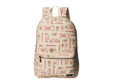 HUF - Drink Up Weekend Backpack (Cream) Backpack Bags