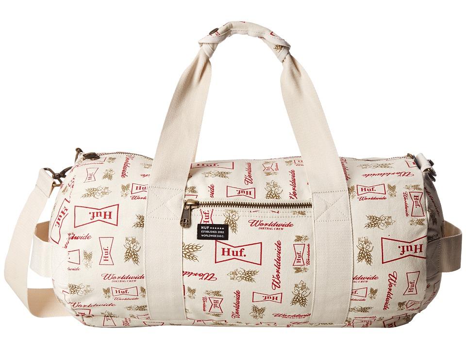 HUF - Drink Up Weekend Duffel (Cream) Duffel Bags