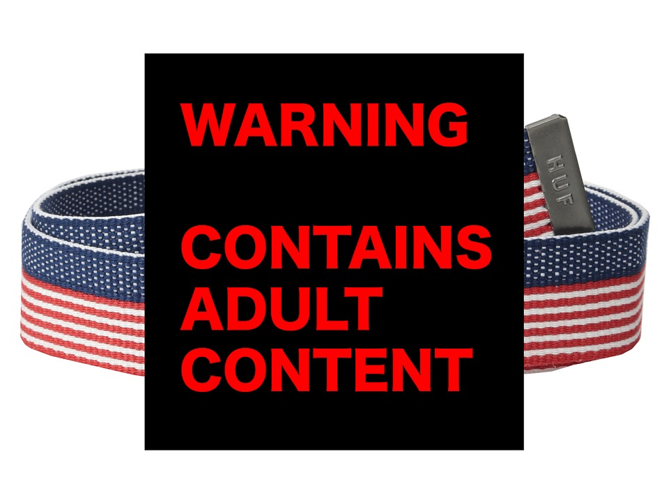HUF - F*** It Scout Belt (Red/White/Blue) Belts