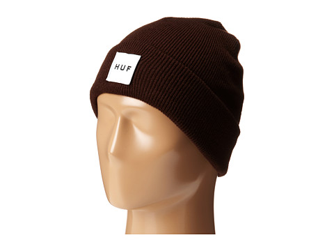 HUF - Box Logo Beanie (Brown) Beanies