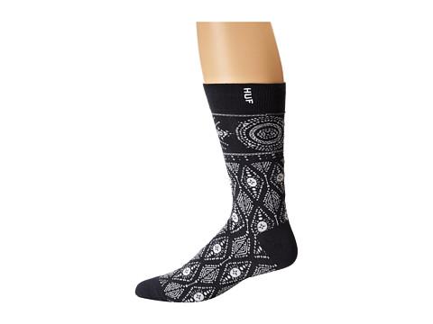 HUF - Bandana Sock (Navy) Crew Cut Socks Shoes