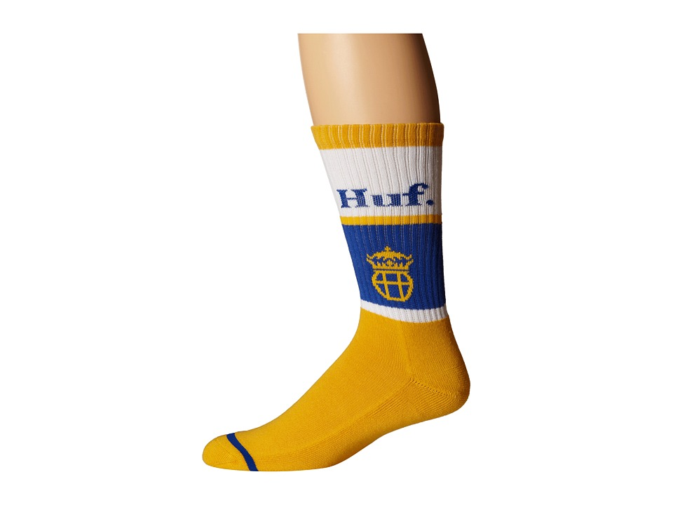 HUF - Can Crew Sock (Gold) Crew Cut Socks Shoes