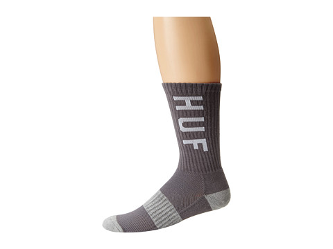 HUF - Original Logo Performance Sock (Charcoal) Crew Cut Socks Shoes