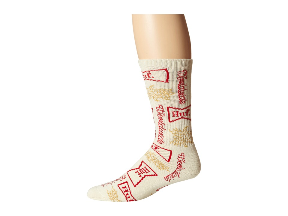 HUF - Drink Up Sock (Cream) Crew Cut Socks Shoes