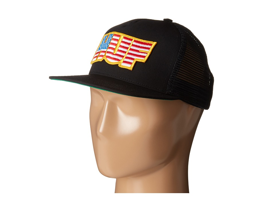HUF - HUF USA Trucker (Black) Caps