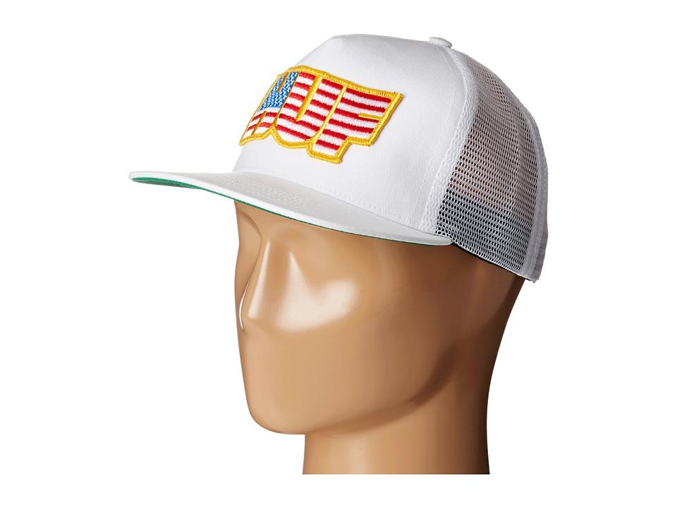 HUF - HUF USA Trucker (White) Caps