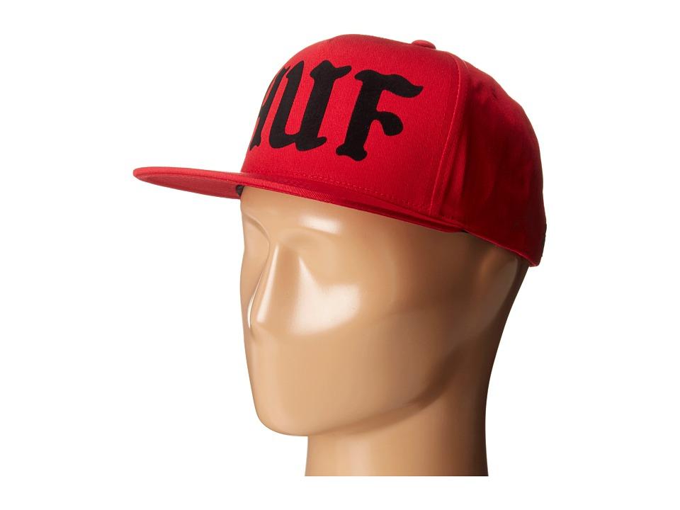 HUF - Uprock Snapback (Red) Caps