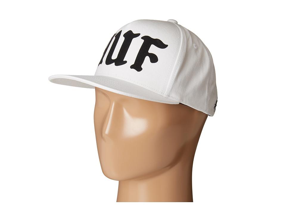 HUF - Uprock Snapback (White) Caps