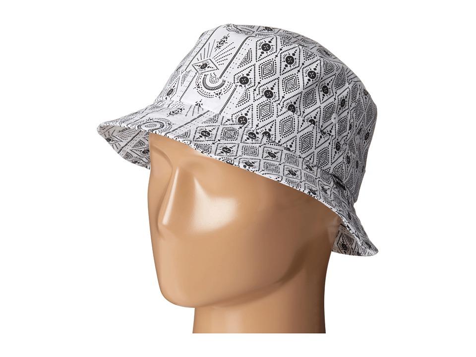 HUF - Bandana Bucket (White) Bucket Caps