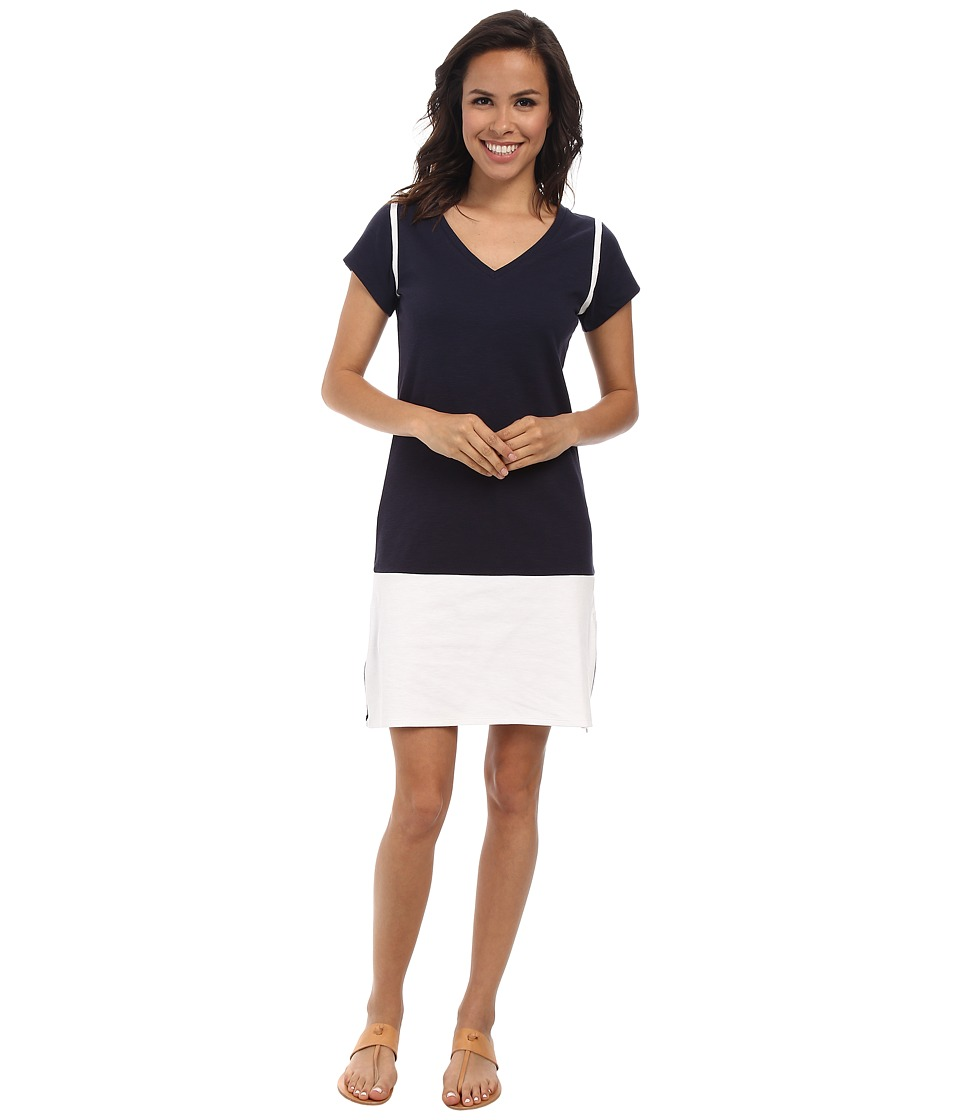 Hatley - Colour Blocked Dress (Navy/White) Women's Dress