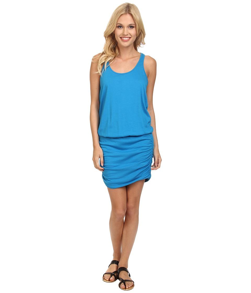 Michael Stars - Racerback Tank Dress (Azul) Women's Dress