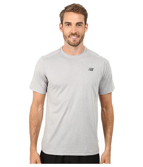 New Balance - Short Sleeve Heather Tech Tee (Athletic Grey) Men
