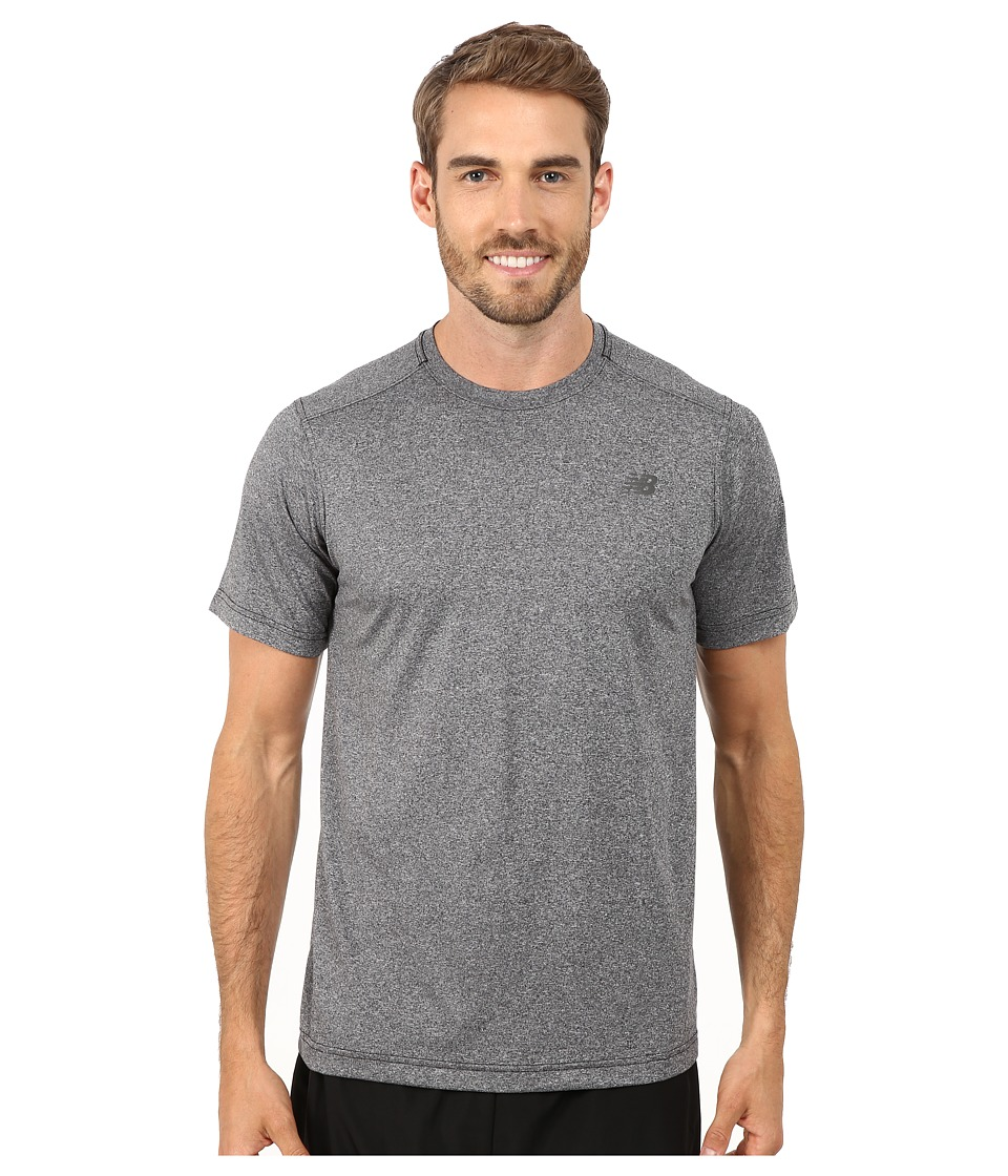New Balance Short Sleeve Heather Tech Tee (Black Heather) Men