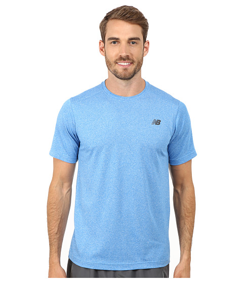 New Balance - Short Sleeve Heather Tech Tee (Bolt) Men's T Shirt