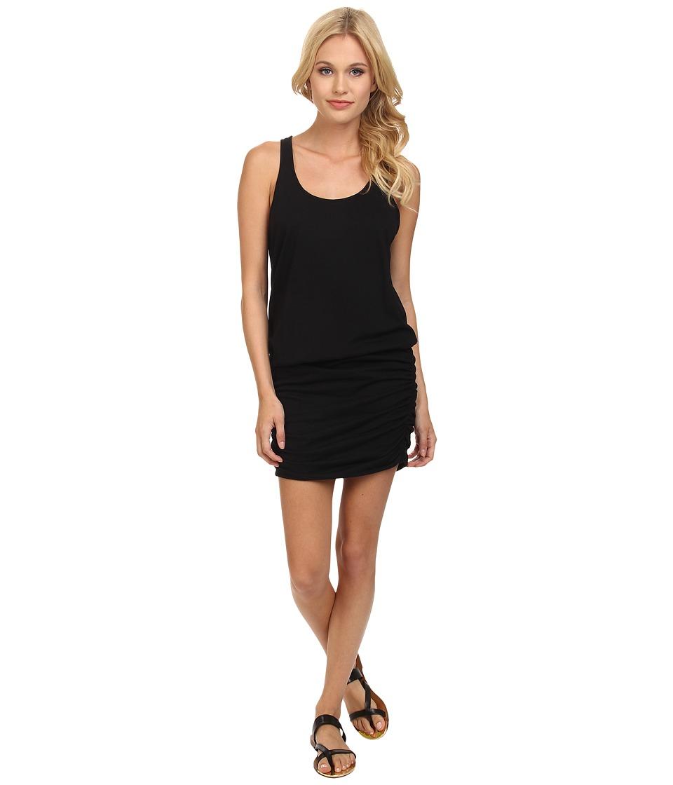 Michael Stars Racerback Tank Dress (Black) Women