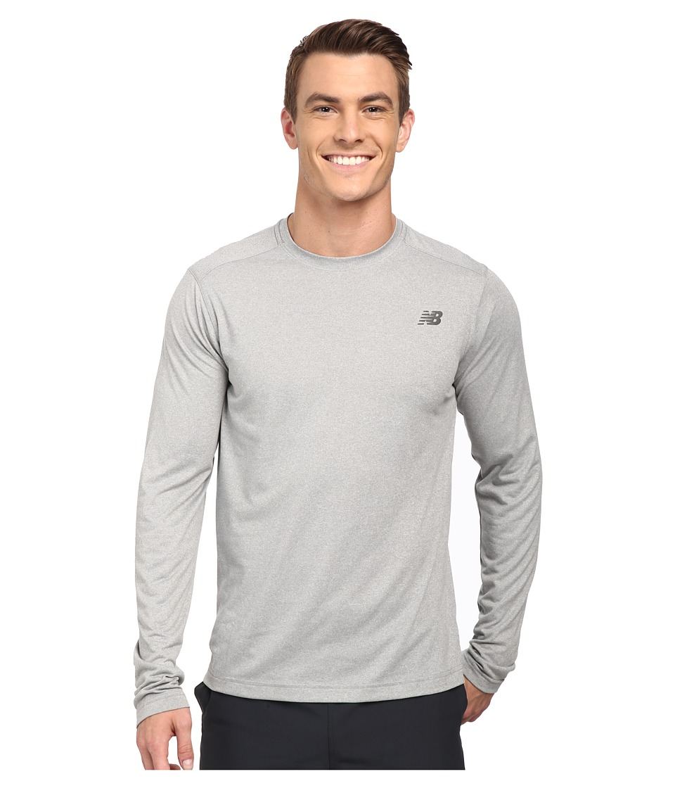 New Balance - Long Sleeve Heather Tech Tee (Athletic Grey) Men's Long Sleeve Pullover